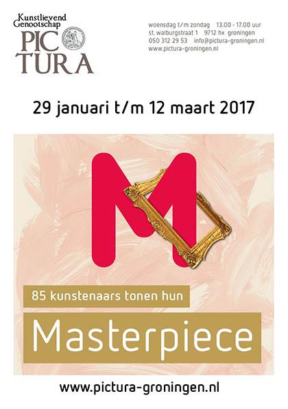 Flyer Masterpiece Aukje Reitsma kunstenaar